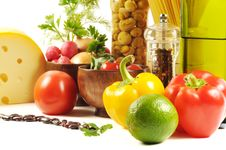 Free Fresh Vegetables, Spice  And Oil Royalty Free Stock Images - 22727299