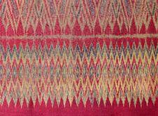 Free Thai Silk Pattern Royalty Free Stock Image - 22729196