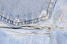 Free Old And Torn Jeans Royalty Free Stock Photography - 22729417
