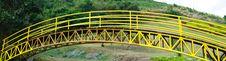 Free Steel Bridges In Yellow. Stock Photo - 22729640