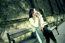 Free Young Woman Talking On Phone Stock Photos - 22729663