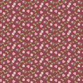 Free Valentine Seamless Pattern With Hearts And Roses Stock Photo - 22730830