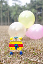 Free Wood Clock With Colorful Balloons Stock Photo - 22738030