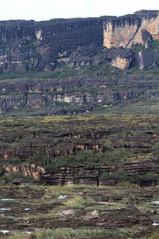 Cliffs Of Auantepui, Venezuela Stock Images