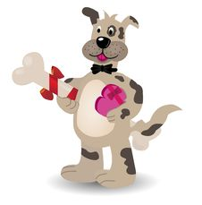 Free Dog With A Bone Going On A Date Royalty Free Stock Photography - 22732907
