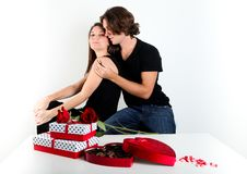 Free Cute Brunette Couple Royalty Free Stock Photos - 22733368
