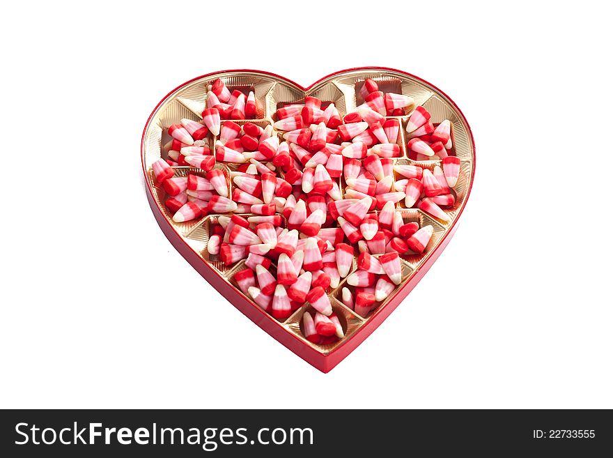 Valentine corn candy