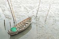 Fishing Boat On The Wetlands Royalty Free Stock Photos