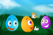 Free Easter Eggs Royalty Free Stock Images - 22744069