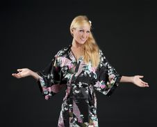 Free Beautiful Blond In Kimono Stock Images - 22744734