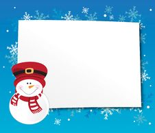 Free Blue Winter Frame Stock Photography - 22747842