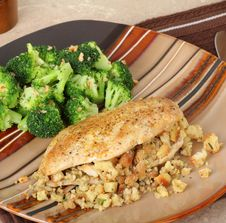 Stuffed Chicken Breast Royalty Free Stock Images