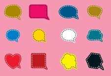 Free Speech Bubble Symbols In Various Shapes And Colors Stock Images - 22748694