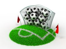 Free Football In Gate Stock Image - 22748871