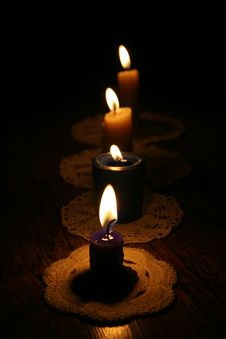 Free Candles Royalty Free Stock Image - 22750456
