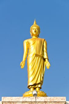 Free Standing Buddha Statues Stock Photos - 22750533