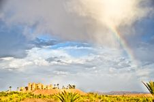 Free Rainbow Over The Kasbah Stock Photo - 22751090