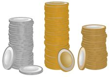 Free Gold And Silver Coins Stock Photography - 22752312