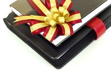 Notebook With Crimson And Gold Ribbon.