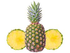 Free Pineapple With Two Slices Stock Image - 22752591