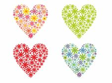 Free Valentines Day Flowered Hearts Stock Photo - 22754670