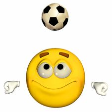 Free Emoticon - Playing Football / Soccer Royalty Free Stock Photography - 22756547