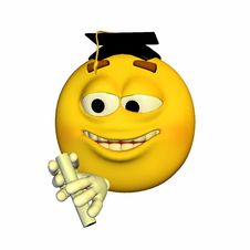 Free Emoticon - Graduating Royalty Free Stock Images - 22756559