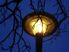 Free Yellow Lamp On Nights Sky Stock Photo - 22757900