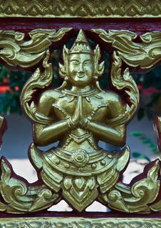 Free Thai Angel Style Statue Stock Image - 22759851