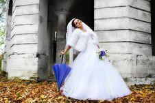 Free Beautiful Bride With Umbrella Stock Photo - 22760000