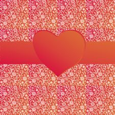 Free Valentine Background With Ribbon Royalty Free Stock Photography - 22761757