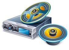 Free Car Radio And Speakers Stock Photos - 22763053