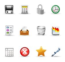 Free Office Icons Stock Images - 22763294