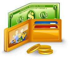 Free Wallet With Dollar And Coins Stock Photos - 22763433