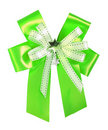 Free Green Ribbon And Bow Isolated Royalty Free Stock Photos - 22771668