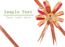 Free Gift Ribbon And Bow Isolated Royalty Free Stock Image - 22771586