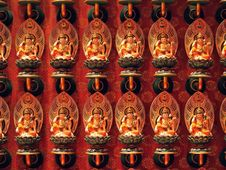Guan Yin In Chinese Temple Royalty Free Stock Photography
