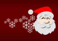 Free Graphic Santa On Red Background Stock Images - 22780694