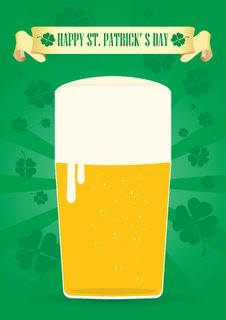 Free Glass Of Fine Beer For St. Patrick S Day Stock Photos - 22786023