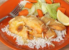 Free Fish Fillet On Rice Royalty Free Stock Photography - 22786157