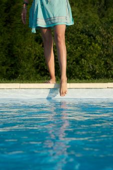 Free Feet On Swimming Pool Border Stock Photo - 22787470