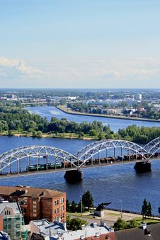 Free Panorama View Of Riga Royalty Free Stock Image - 22791626