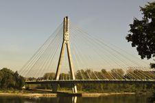 Free Modern Bridge In Warsaw Royalty Free Stock Photos - 22792908