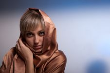 Portrait Of Girl Of Blonde. Royalty Free Stock Photos