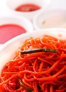 Stir-fried Noodles, Chow Mein, Chinese Cuisine Stock Image