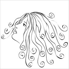Free Woman With Swirls Hair Stock Photo - 22797380