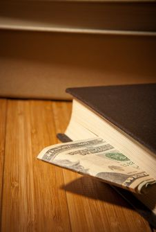 Free Money In The Book Stock Photography - 22797502