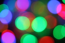 Christmas Bokeh Lighteffects Stock Photography
