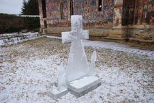 Ice Cross In The Monastery Garden Stock Photography