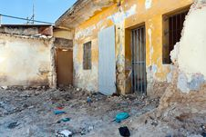 Destroyed House Royalty Free Stock Photo